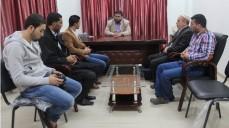 نقيب المحاسبين يلتقي وفداً من مكتب منظمة فور شباب فلسطين