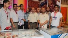 وفد نقابة المحاسبين بغزة يزور معرض المنتجات الغذائية